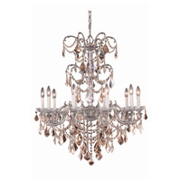 Athena 10 Light 29 inch Pewter Chandelier Ceiling Light