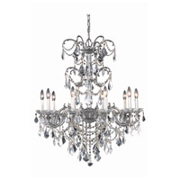Elegant Lighting 9710D29PW/SS Athena 10 Light 29 inch Pewter Dining Chandelier Ceiling Light in Clear, Swarovski Strass