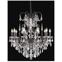 Elegant Lighting Athena 10 Light Dining Chandelier in Dark Bronze with Swarovski Strass Clear Crystal 9710D30DB/SS