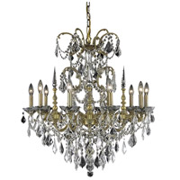 Elegant Lighting 9710D30FG/RC Athena 10 Light 30 inch French Gold Dining Chandelier Ceiling Light in Clear, Royal Cut
