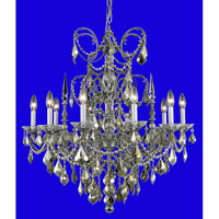 Elegant Lighting 9710D30PW/SA Athena 10 Light 30 inch Pewter Dining Chandelier Ceiling Light in Clear, Spectra Swarovski alternative photo thumbnail
