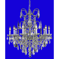 Elegant Lighting Athena 10 Light Dining Chandelier in Pewter with Royal Cut Golden Teak Crystal 9710D30PW-GT/RC alternative photo thumbnail