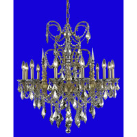 Elegant Lighting Athena 12 Light Dining Chandelier in French Gold with Royal Cut Golden Teak Crystal 9712D32FG-GT/RC alternative photo thumbnail