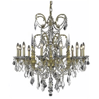 Elegant Lighting Athena 12 Light Dining Chandelier in French Gold with Elegant Cut Clear Crystal 9712D32FG/EC