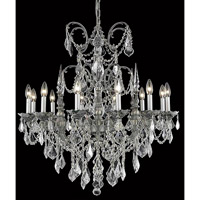 Elegant Lighting 9712D32PW/RC Athena 12 Light 32 inch Pewter Dining Chandelier Ceiling Light in Clear, Royal Cut alternative photo thumbnail