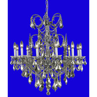 Elegant Lighting 9712D32PW-GT/RC Athena 12 Light 32 inch Pewter Dining Chandelier Ceiling Light in Golden Teak, Royal Cut alternative photo thumbnail