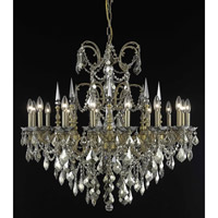 Elegant Lighting Athena 16 Light Foyer in French Gold with Royal Cut Golden Teak Crystal 9716G35FG-GT/RC