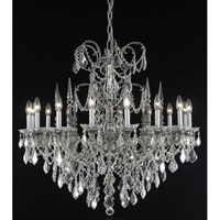 Elegant Lighting Athena 16 Light Foyer in Pewter with Elegant Cut Clear Crystal 9716G35PW/EC