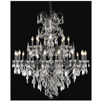 Elegant Lighting Athena 24 Light Foyer in Dark Bronze with Elegant Cut Clear Crystal 9724G44DB/EC