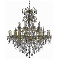 Athena 24 Light 44 inch French Gold Foyer Ceiling Light in Clear, Elegant Cut