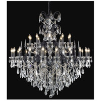 Elegant Lighting Athena 30 Light Foyer in Dark Bronze with Elegant Cut Clear Crystal 9730G53DB/EC