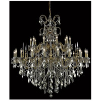 Elegant Lighting Athena 30 Light Foyer in French Gold with Swarovski Strass Golden Teak Crystal 9730G53FG-GT/SS