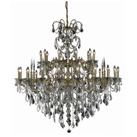 Elegant Lighting 9730G53FG/RC Athena 30 Light 53 inch French Gold Foyer Ceiling Light in Clear Royal Cut