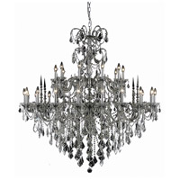 Elegant Lighting Athena 30 Light Foyer in Pewter with Royal Cut Clear Crystal 9730G53PW/RC