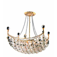 Elegant Lighting Corona 8 Light Dining Chandelier in Gold with Royal Cut Clear Crystal 9800D20G/RC alternative photo thumbnail