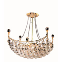 Elegant Lighting Corona 8 Light Dining Chandelier in Gold with Swarovski Strass Clear Crystal 9800D20G/SS alternative photo thumbnail