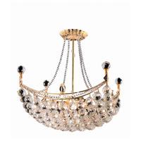 Elegant Lighting V9800D20G/SS Corona 8 Light 20 inch Gold Dining Chandelier Ceiling Light in Swarovski Strass