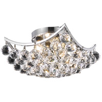 Elegant Lighting Corona 4 Light Flush Mount in Chrome with Royal Cut Clear Crystal 9800F12C/RC