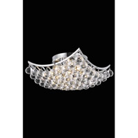 Elegant Lighting Corona 4 Light Flush Mount in Chrome with Royal Cut Clear Crystal 9800F14C/RC alternative photo thumbnail