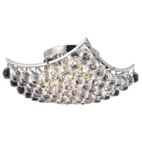 Elegant Lighting Corona 4 Light Flush Mount in Chrome with Swarovski Strass Clear Crystal 9800F14C/SS