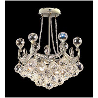 Elegant Corona 4 Light Pendant in Chrome with Crystal (Clear) Elegant Cut Crystals 9801D14C/EC