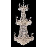 Elegant Corona 20 Light Chandelier in Chrome with Crystal (Clear) Royal Cut Crystals 9801G24C/RC