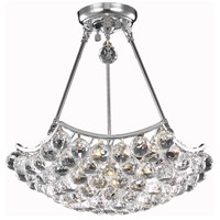 Elegant Lighting Corona 8 Light Dining Chandelier in Chrome with Elegant Cut Clear Crystal 9802D18C/EC