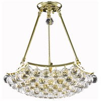 Elegant Lighting Corona 8 Light Dining Chandelier in Gold with Elegant Cut Clear Crystal 9802D18G/EC