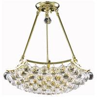 Elegant Lighting V9802D18G/SS Corona 8 Light 18 inch Gold Dining Chandelier Ceiling Light in Swarovski Strass