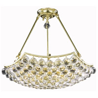 Elegant Lighting Corona 10 Light Dining Chandelier in Gold with Elegant Cut Clear Crystal 9802D22G/EC