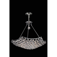 Elegant Lighting Corona 12 Light Dining Chandelier in Chrome with Elegant Cut Clear Crystal 9802D26C/EC alternative photo thumbnail
