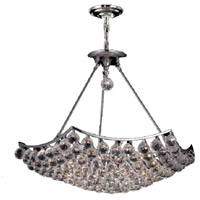 Elegant Lighting Corona 12 Light Dining Chandelier in Chrome with Elegant Cut Clear Crystal 9802D26C/EC