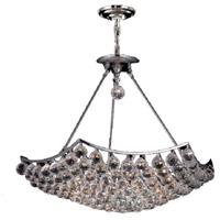 Elegant Lighting V9802D26C/SS Corona 12 Light 26 inch Chrome Dining Chandelier Ceiling Light in Swarovski Strass