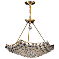Elegant Lighting Corona 12 Light Dining Chandelier in Gold with Elegant Cut Clear Crystal 9802D26G/EC