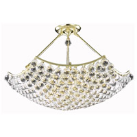Elegant Lighting Corona 12 Light Dining Chandelier in Gold with Elegant Cut Clear Crystal 9802D30G/EC