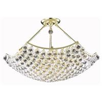 Elegant Lighting V9802D30G/SS Corona 12 Light 30 inch Gold Dining Chandelier Ceiling Light in Swarovski Strass