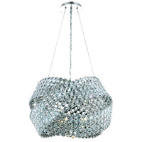 Elegant Lighting Electron 5 Light Dining Chandelier in Chrome with Elegant Cut Clear Crystal 9803D20C/EC