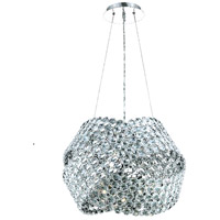 Elegant Lighting Electron 12 Light Dining Chandelier in Chrome with Elegant Cut Clear Crystal 9803D24C/EC