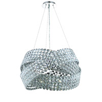 Elegant Lighting Electron 16 Light Dining Chandelier in Chrome with Elegant Cut Clear Crystal 9803D28C/EC