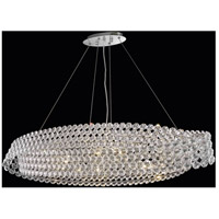 Elegant Lighting Electron 10 Light Dining Chandelier in Chrome with Elegant Cut Clear Crystal 9804D46C/EC