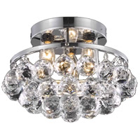 Elegant Lighting Corona 3 Light Flush Mount in Chrome with Royal Cut Clear Crystal 9805F10C/RC
