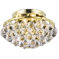 Elegant Lighting Corona 4 Light Flush Mount in Chrome with Royal Cut Clear Crystal 9805F14G/RC