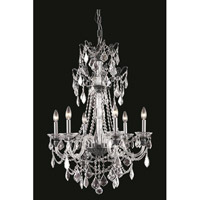 Elegant Lighting Imperia 6 Light Chandelier in Dark Bronze with Swarovski Elements Clear Crystal 9806D24DB/SS