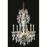 Elegant Lighting Imperia 6 Light Chandelier in French Gold with Swarovski Elements Clear Crystal 9806D24FG/SS