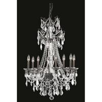 Elegant Lighting 9808D25DB/SS Imperia 8 Light 25 inch Dark Bronze Chandelier Ceiling Light