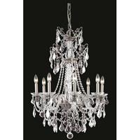 Elegant Lighting 9808D25PW/SS Imperia 8 Light 25 inch Pewter Chandelier Ceiling Light