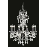 Elegant Lighting 9810D30DB/SS Imperia 10 Light 30 inch Dark Bronze Chandelier Ceiling Light