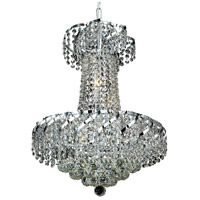 Elegant Lighting Belenus 6 Light Dining Chandelier in Chrome with Elegant Cut Clear Crystal ECA1D18C/EC