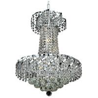 Elegant Lighting VECA1D18C/EC Belenus 6 Light 18 inch Chrome Dining Chandelier Ceiling Light in Elegant Cut
