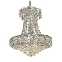 Elegant Lighting Belenus 11 Light Dining Chandelier in Chrome with Royal Cut Clear Crystal ECA1D22C/RC